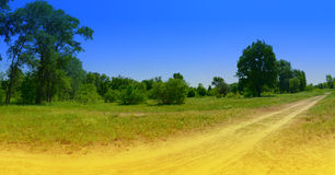 Panorama del prado Foto de archivo
