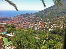 Panorama del principato del Monaco fotografia stock libera da diritti