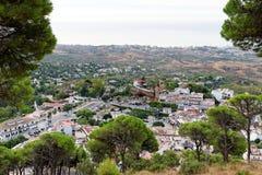 Panorama del pueblo blanco de Mijas Costa del Sol, Andalucía españa Fotografía de archivo