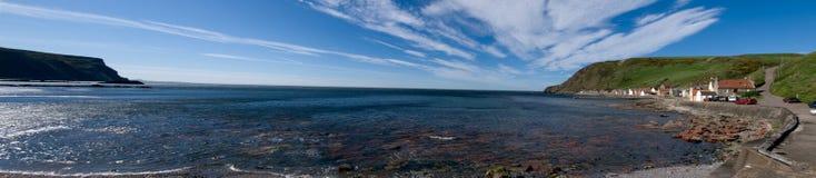 Panorama del pueblo pesquero  fotos de archivo libres de regalías