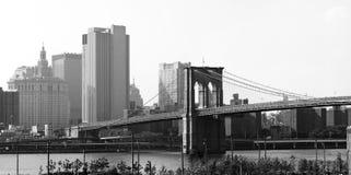 Panorama del puente de Brooklyn NYC Imagen de archivo libre de regalías