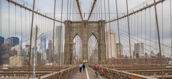 Panorama del puente de Brookyn en Nueva York fotos de archivo libres de regalías
