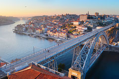 Panorama del puente de Oporto Fotos de archivo