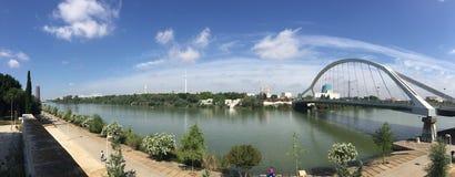 Panorama del puente de Puenta de la Bargyueta imagen de archivo libre de regalías