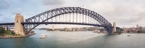 Panorama del puente de Sydney fotos de archivo