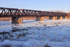 Panorama del puente del ferrocarril Fotografía de archivo libre de regalías