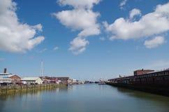 Panorama del puerto Fotos de archivo