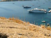 Panorama del puerto Imagen de archivo libre de regalías
