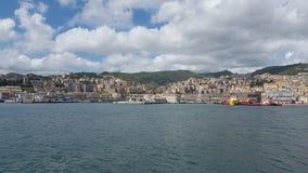 Panorama del puerto de Génova Fotografía de archivo libre de regalías