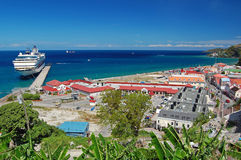 Panorama del puerto de San Jorge Fotos de archivo