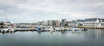 Panorama del puerto del yate de Helsingborg Imagen de archivo libre de regalías
