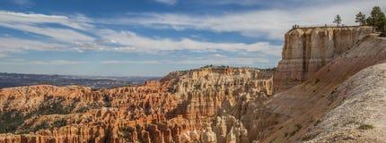 Panorama del punto de la inspiración en Bryce Canyon Fotografía de archivo