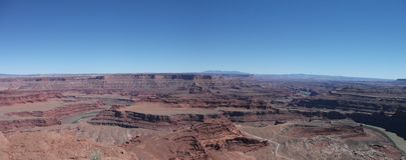 Panorama del punto del cavallo guasto Fotografia Stock