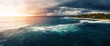 Panorama del punto della spuma nominato Coconut Fotografie Stock