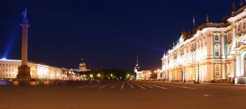 Panorama del quadrato del palazzo, St Petersburg, Russia Fotografie Stock Libere da Diritti