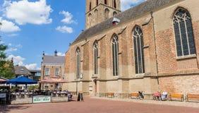 Panorama del quadrato del mercato centrale in Lochem Fotografia Stock Libera da Diritti