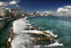 Panorama del quay di Havana-2 Fotografia Stock Libera da Diritti