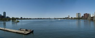 Panorama del río de Charles fotografía de archivo libre de regalías