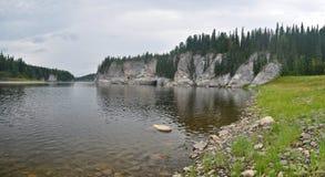 Panorama del río del norte protegido imagen de archivo libre de regalías