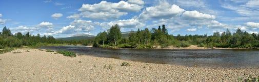 Panorama del río del norte protegido imágenes de archivo libres de regalías