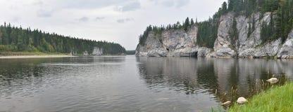 Panorama del río del norte protegido imagenes de archivo