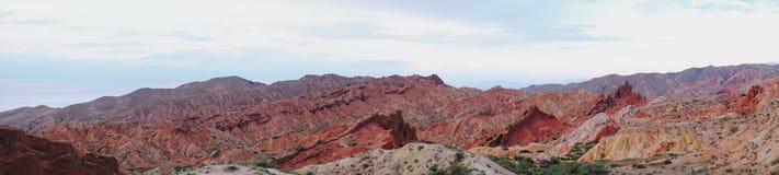 Panorama del racconto del canyon fotografia stock libera da diritti