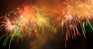 Panorama del saluto, fuochi d'artificio. Fotografia Stock Libera da Diritti