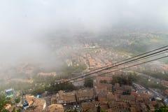 Panorama del San Marino della nebbia Fotografie Stock Libere da Diritti