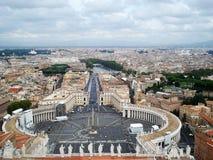 Panorama del san Petr Square Fotografia Stock