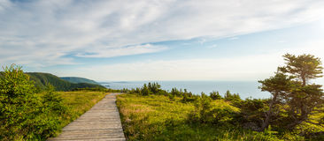 Panorama del sentiero costiero della traccia dell'orizzonte Immagine Stock