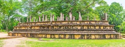 Panorama del sito archeologico di Polonnaruwa Immagine Stock