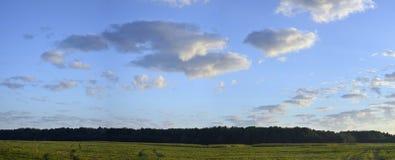 Panorama del sol poniente Foto de archivo libre de regalías