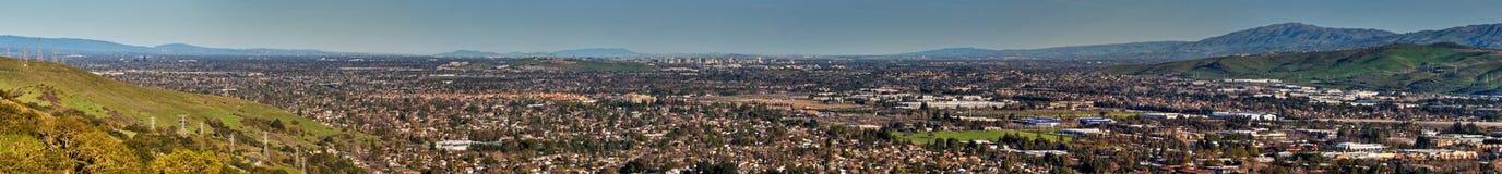 Panorama del sur de San Francisco Bay Fotografía de archivo
