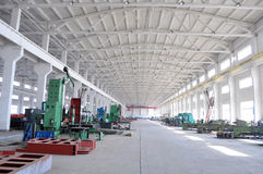 Panorama del taller de la fábrica Fotos de archivo