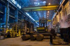 Panorama del taller de la metalurgia Imagen de archivo