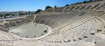 Panorama del teatro antiguo en Bodrum imagen de archivo libre de regalías