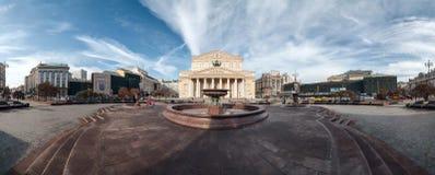 Panorama del teatro de Bolshoi en Moscú, Rusia foto de archivo libre de regalías