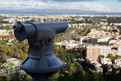 Panorama del telescopio de Roma Foto de archivo