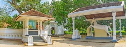 Panorama del tempio di Thaniwalla Devalaya Fotografie Stock