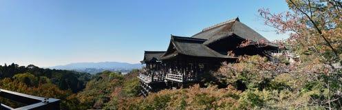 Panorama del templo de Kiyomizu, Kyoto Fotos de archivo