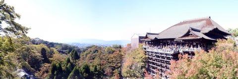 Panorama del templo de Kiyomizu, Kyoto Imagen de archivo libre de regalías