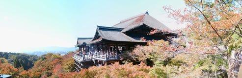 Panorama del templo de Kiyomizu, Kyoto Foto de archivo