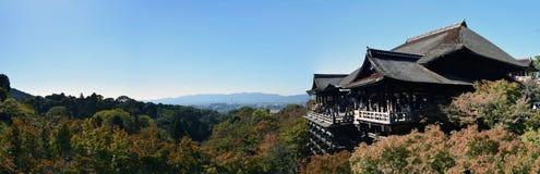 Panorama del templo de Kiyomizu, Kyoto Fotografía de archivo libre de regalías