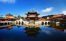 Panorama del templo de Yuantong Kunming foto de archivo libre de regalías