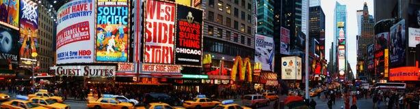 Panorama del Times Square Immagini Stock Libere da Diritti