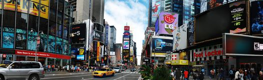 Panorama del Times Square di New York City Fotografia Stock Libera da Diritti