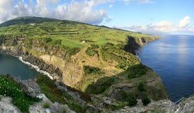 Panorama del top de Castelo Branco Imagen de archivo libre de regalías