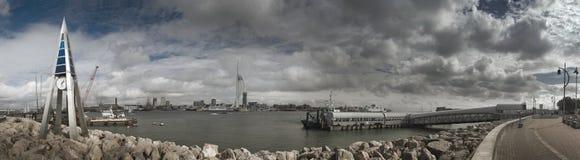 Panorama del transbordador del Gosport Imágenes de archivo libres de regalías