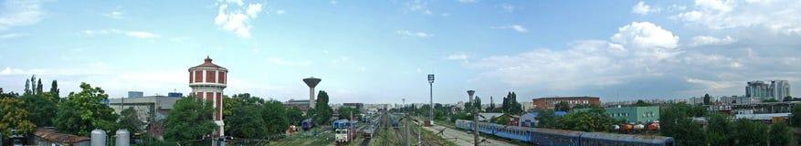 Panorama del treno Fotografie Stock