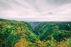 Panorama del valle en Costa Rica imagen de archivo